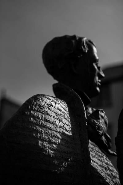 WB Yeats Statue, Sligo Town.