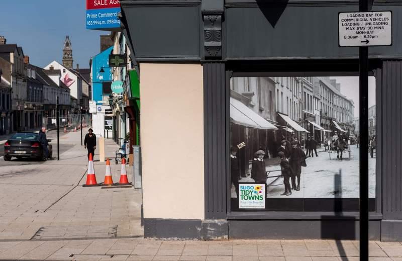 O'Connell street by Gratton Street, Sligo Town