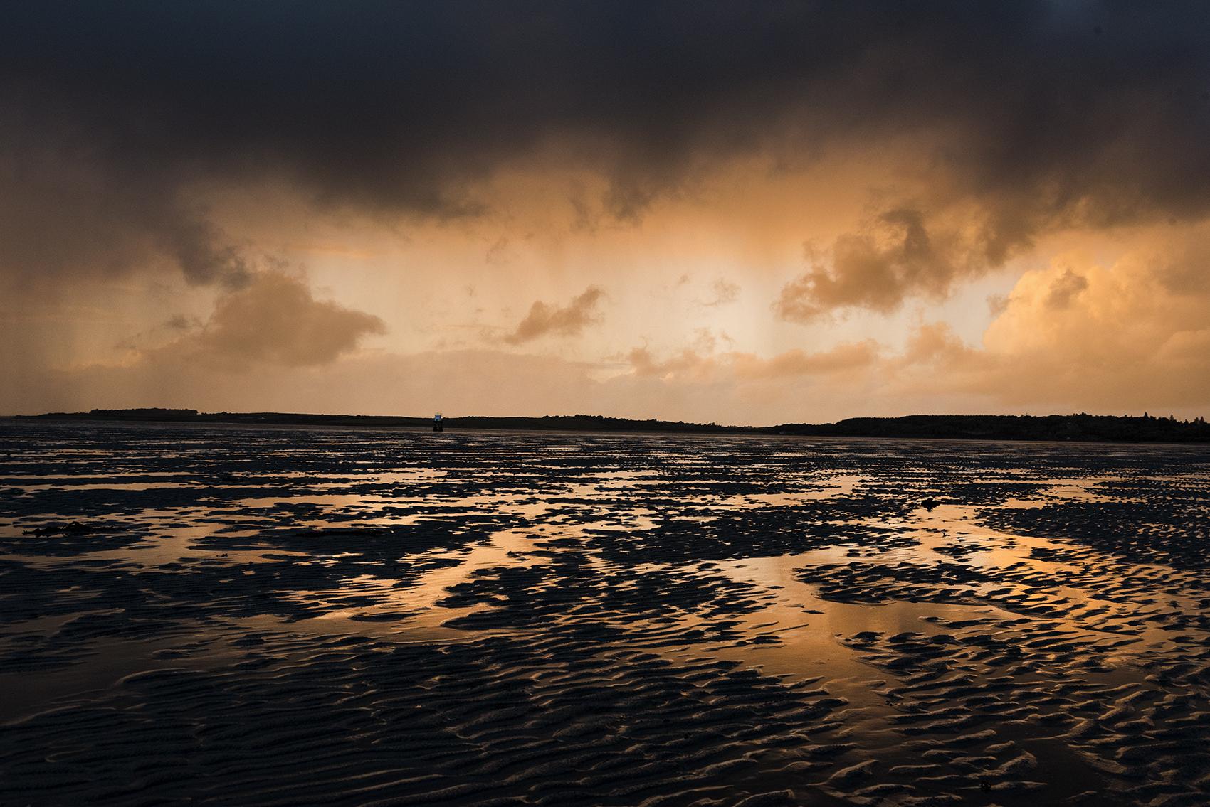 Rosses Point Beach at Sunset. Sligo